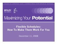 Presentation - Foley & Lardner LLP