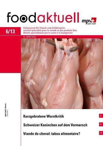 Schweizer Kaninchen auf dem Vormarsch Viande ... - Foodaktuell.ch