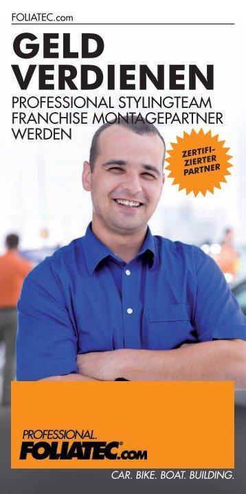GELD VERDIENEN - Foliatec