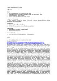 E-news update August 22 2005 In this issue: POLICY 1.1 ... - Focus