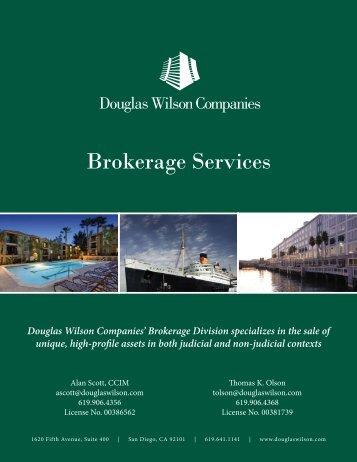 Douglas Wilson Companies' (DWC) 2013 Brokerage Brochure