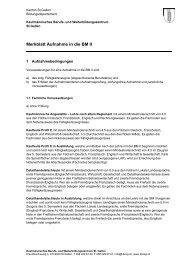 Merkblatt Aufnahme in die BM II