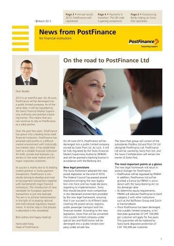 Newsletter 2013-01 (PDF) - PostFinance