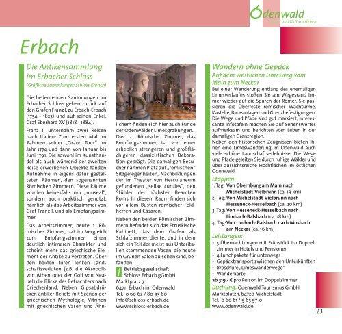 Der Limes - Odenwald
