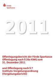 Offenlegungsbericht 2011 - Förde Sparkasse