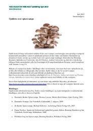 Tjekliste over spisesvampe (pdf) - Fødevarestyrelsen