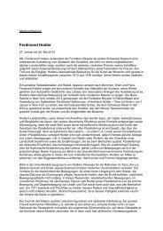Ferdinand Hodler - Fondation Beyeler