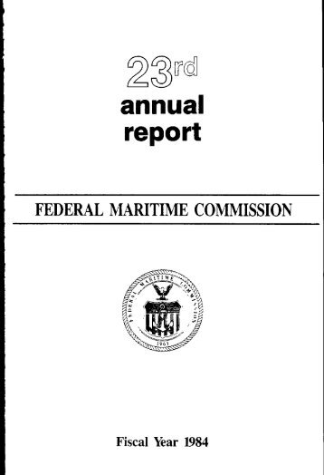 report - Federal Maritime Commission