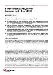 Schoellerbank Analysebrief Nr. 210 (pdf, 114 ... - Schoellerbank AG