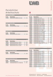 Preisliste - LWB SchweissTechnik