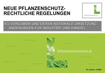 EU-Vorgaben und deren nationale Umsetzung (pdf) - 7.75 mb - AGES