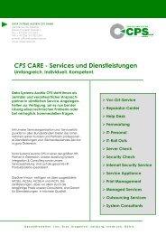 Care/Services und Dienstleistungen (pdf) - CPS-IT GmbH