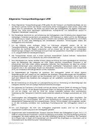 Allgemeine Transportbedingungen LKW - Mosser