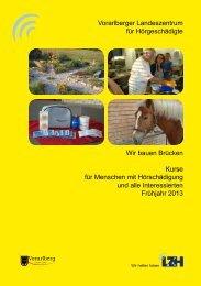 Kursprogramm Frühjahr 2013