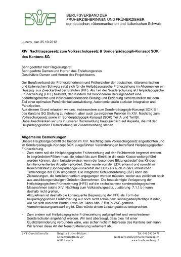 Verordnung Sonderpädagogik-Konzept SOK Kanton St. Gallen