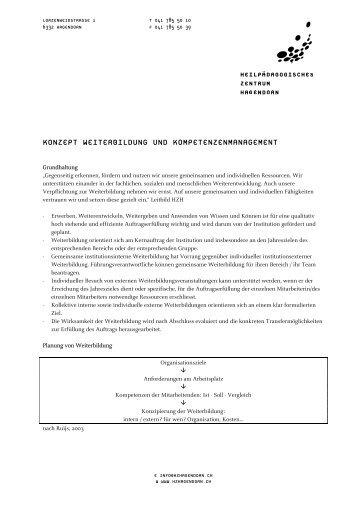 Konzept Weiterbildung und Management von Kompetenzen