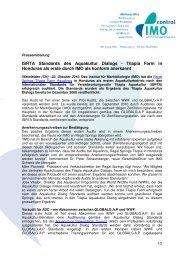 Pressemitteilung first ISRTA Aquakultur Audit - IMO