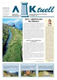 Hauszeitung AK-tuell Frühling/Sommer 2013