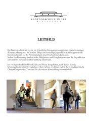 Leitbild A5 - Kantonsschule im Lee Winterthur