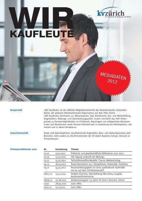 insertionstarif wir kaufleute - Kaufmännische Verband Zürich