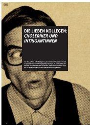 Die lieben Kollegen: Choleriker und intrigantinnen
