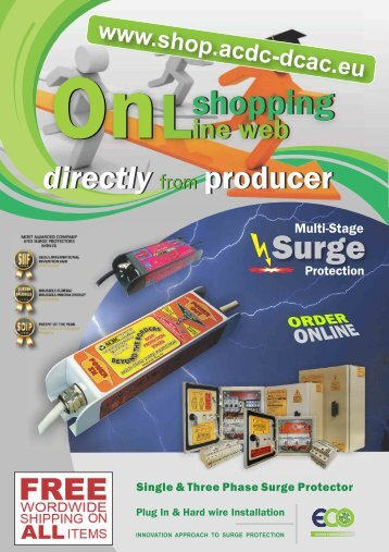 Online Web Shop for Surge Protectors - Directly from producer ACDC DCAC
