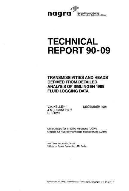TECHNICAL REPORT 90-09 - Nagra