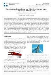 Entwicklung, Herstellung und Charakterisierung einer ... - NTB