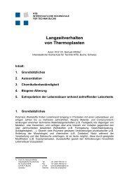 Langzeitverhalten von Thermoplasten - NTB