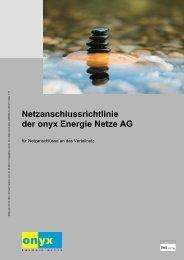 Netzanschlussrichtlinien - Onyx Energie Mittelland