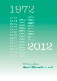 PDF Geschäftsbericht 2012 - PKG Pensionskasse