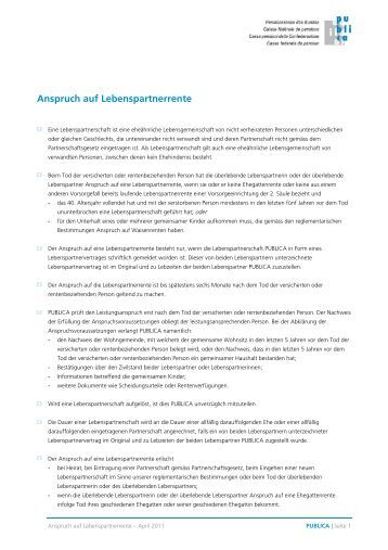 Anspruch auf Lebenspartnerrente inkl. Vertrag (PDF, 35 KB) - Publica