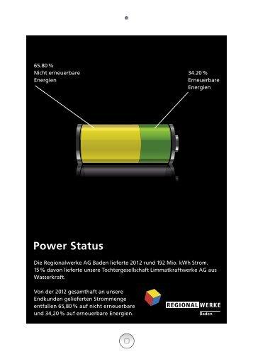 Informationsblatt zur Stromkennzeichnung - Regionalwerke AG Baden