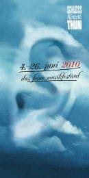 4.-26. juni 2010 - Schlosskonzerte Thun