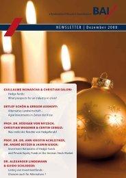 NEWSLETTER | Dezember 2008 - SECA