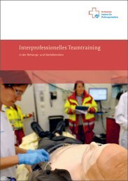 Flyer Interprofessionelles Teamtraining (PDF, 1.3 MB) - Sirmed