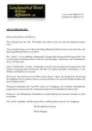 PDF-Dokument Menüvorschläge - Landgasthof Hotel Sonne