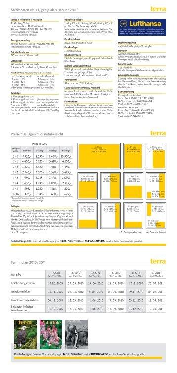 Mediadaten terra 13 - Tecklenborg Verlag