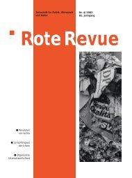 Rote Revue 1-2004 / Zeitschrift für Politik, Wirtschaft ... - SP Schweiz