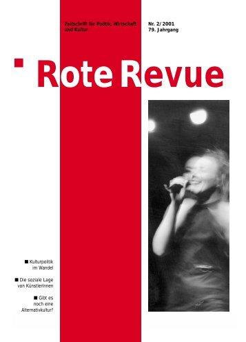 Rote Revue Nr. 2-2001: Kulturpolitik - Soziale Lage ... - SP Schweiz