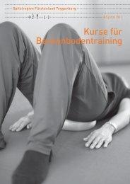 Kurse für Beckenbodentraining - Spitalregion Fürstenland Toggenburg