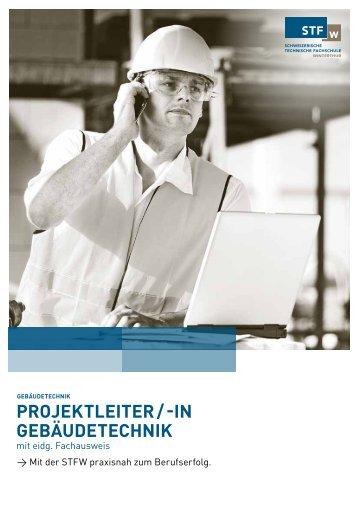 Projektleiter / -in gebäudetechnik - STFW