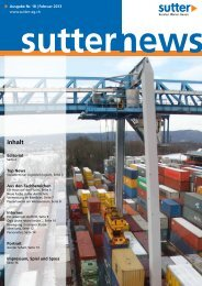 10.02.2013: SUTTER NEWS Nr. 18