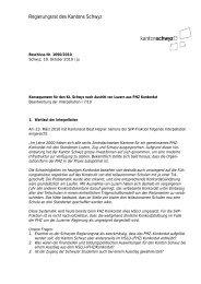 Regierungsrat des Kantons Schwyz - Kanton Schwyz
