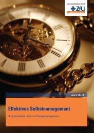 Effektives Selbstmanagement - ZFU International Business School