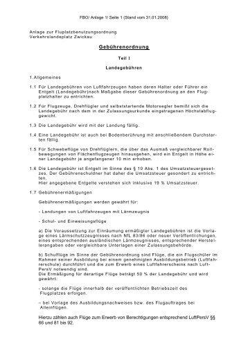 Download der Gebührenordnung für Landegebühren - Aero-Club ...