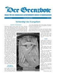 22. April 2012 - Die Evangelisch-altreformierte Kirche in ...