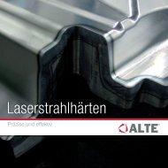 Broschüre Laserstrahlhärten - ALTE GmbH
