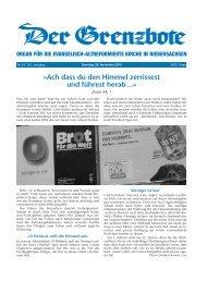28. November 2010 - Die Evangelisch-altreformierte Kirche in ...