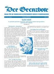 20. Mai 2012 - Die Evangelisch-altreformierte Kirche in Niedersachsen